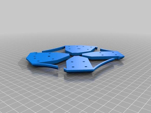 Delta Elite 四轴飞行器骨架 3D模型  图22