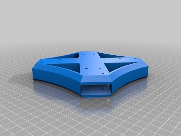 Delta Elite 四轴飞行器骨架 3D模型  图28