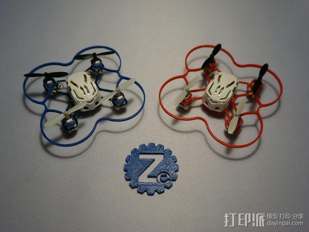 Hubsan Q4支撑架 3D模型  图1