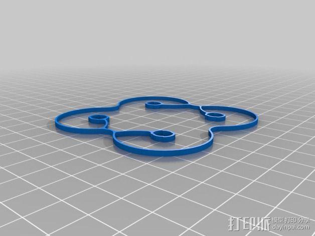 Hubsan Q4支撑架 3D模型  图2