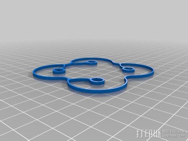 Hubsan Q4支撑架 3D模型  图4