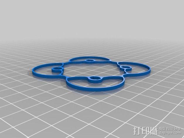 Hubsan Q4支撑架 3D模型  图7