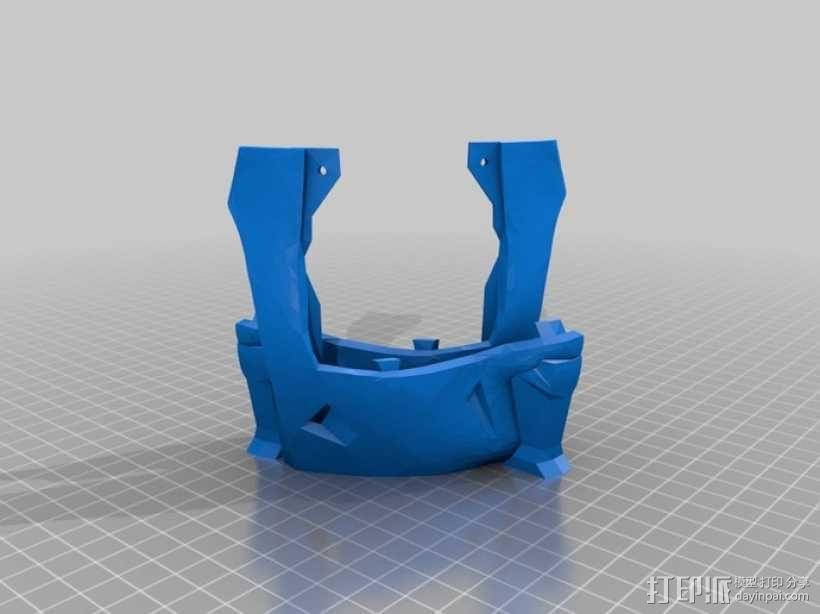 """机器人""""InMoov""""的脑袋 3D模型  图2"""