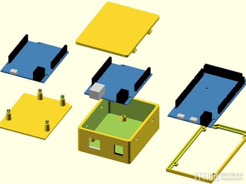 Arduino OpenSCAD固定架 3D模型  图1