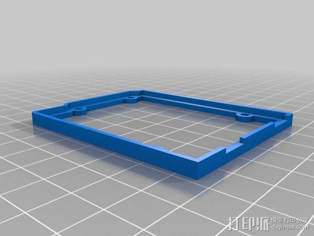 Arduino OpenSCAD固定架 3D模型  图2