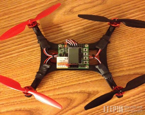 微型H四轴飞行器 3D模型  图2