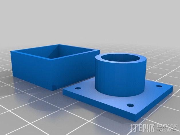 fpv 摄像头盒 3D模型  图2