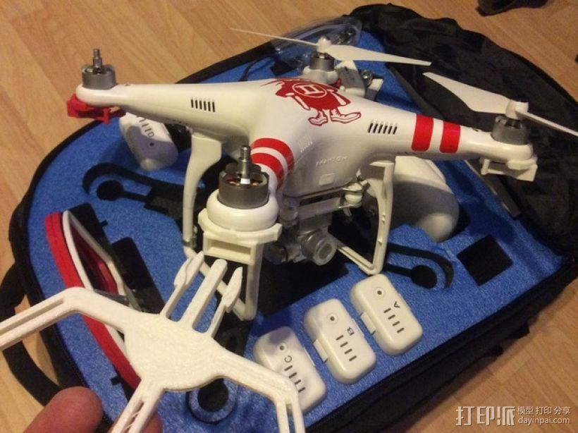 四轴飞行器螺旋桨快速释放保护架 3D模型  图1