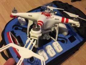 四轴飞行器螺旋桨快速释放保护架 3D模型