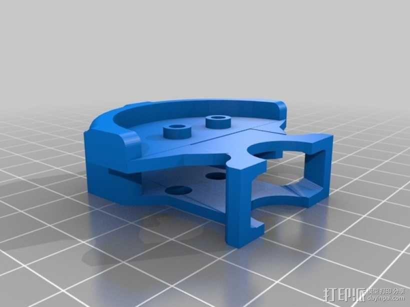四轴飞行器螺旋桨快速释放保护架 3D模型  图3