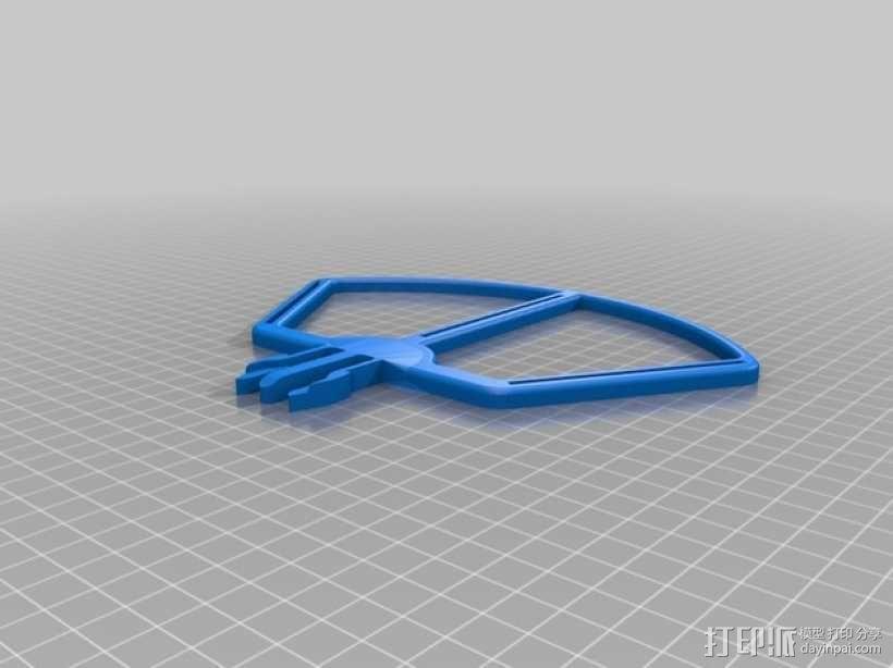 四轴飞行器螺旋桨快速释放保护架 3D模型  图2