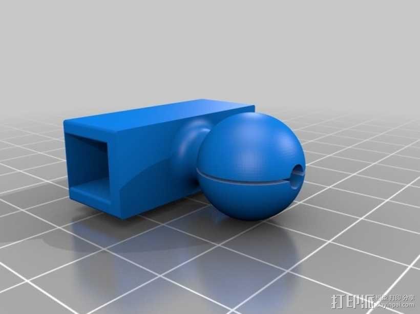 旋转iPhone固定槽 3D模型  图3
