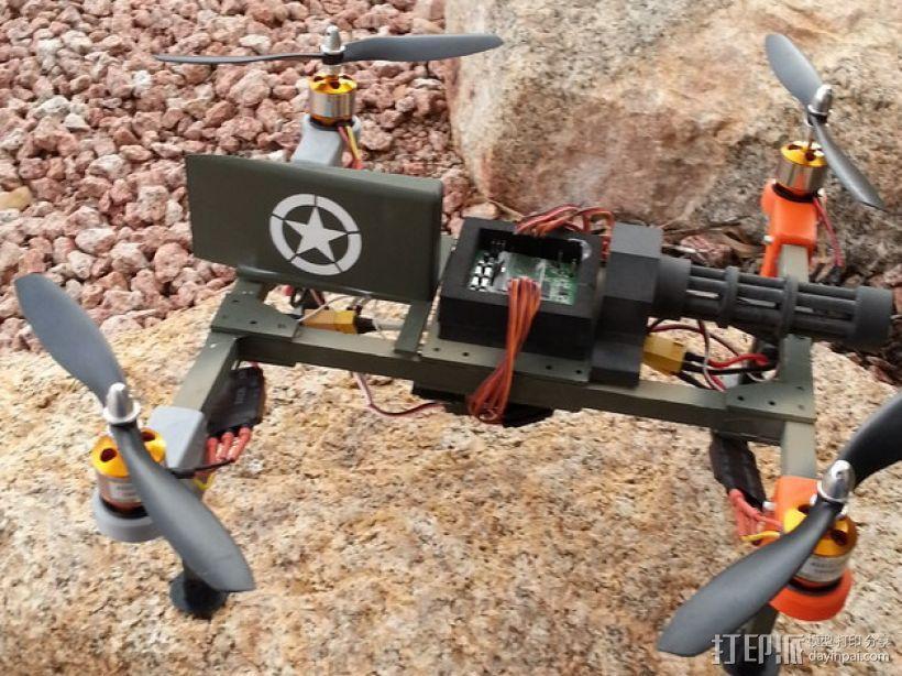 四轴飞行器组件 3D模型  图1