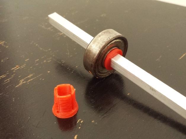 5mm方形滑板承接轴保护套 3D模型  图1