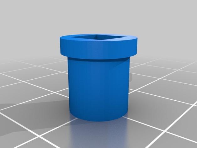 5mm方形滑板承接轴保护套 3D模型  图2