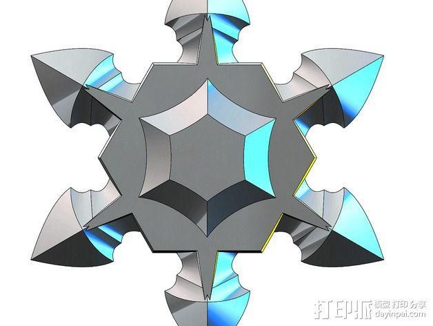 手里剑 3D模型  图3