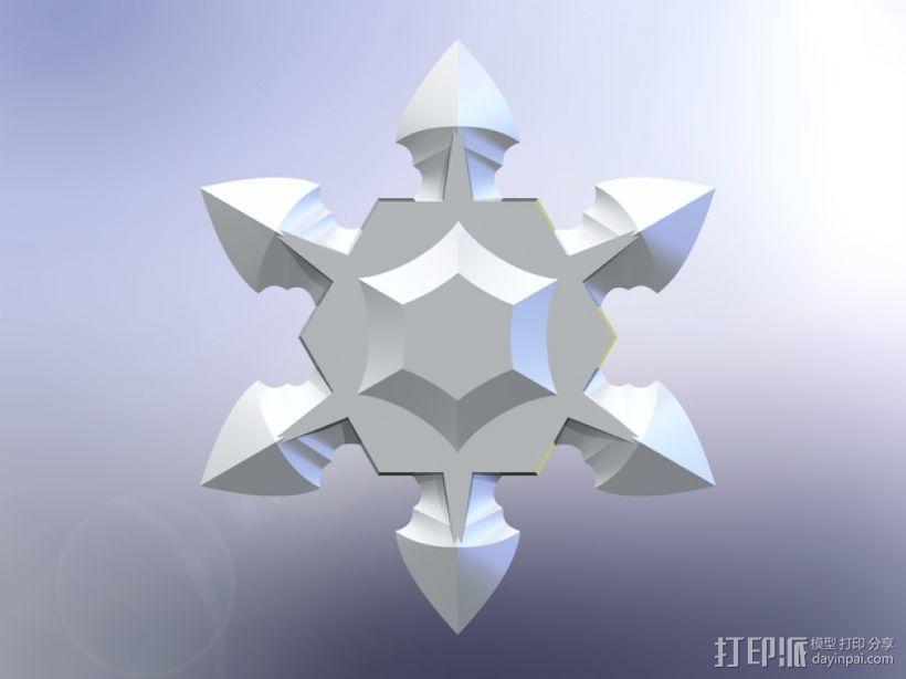 手里剑 3D模型  图1