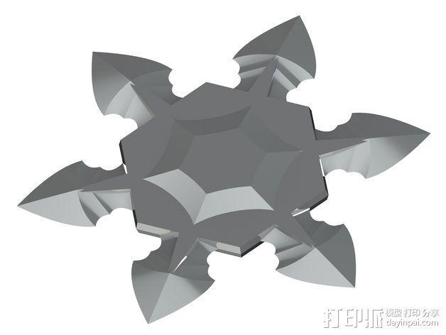 手里剑 3D模型  图4