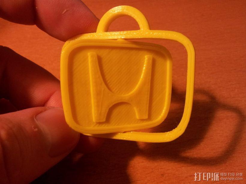本田旋转钥匙链 3D模型  图1