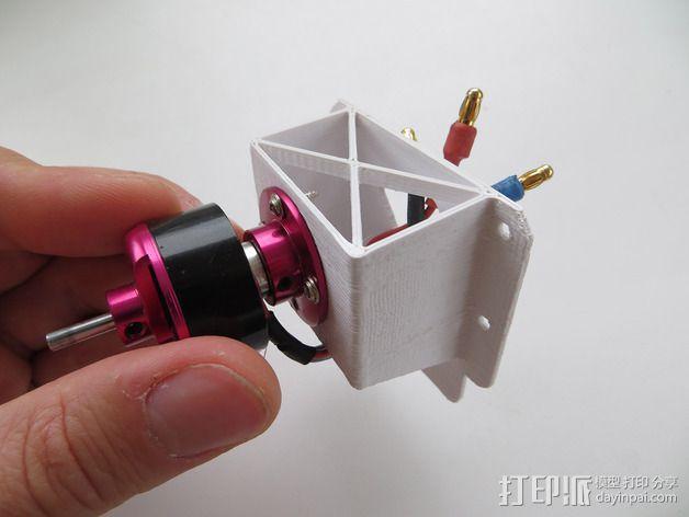 182型马达固定槽 3D模型  图2