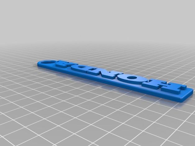 本田钥匙链 3D模型  图2
