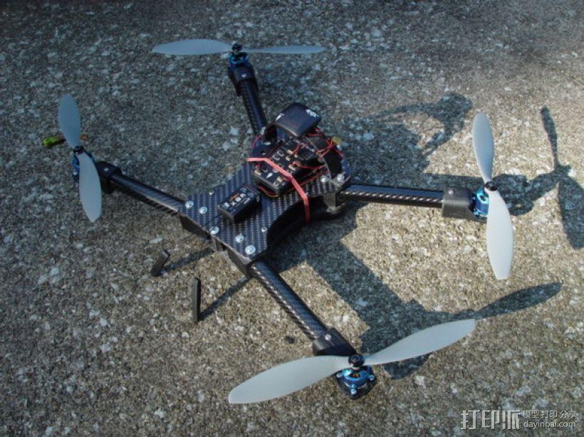碳纤维 T4四轴飞行器 3D模型  图1