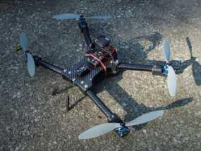 碳纤维 T4四轴飞行器 3D模型