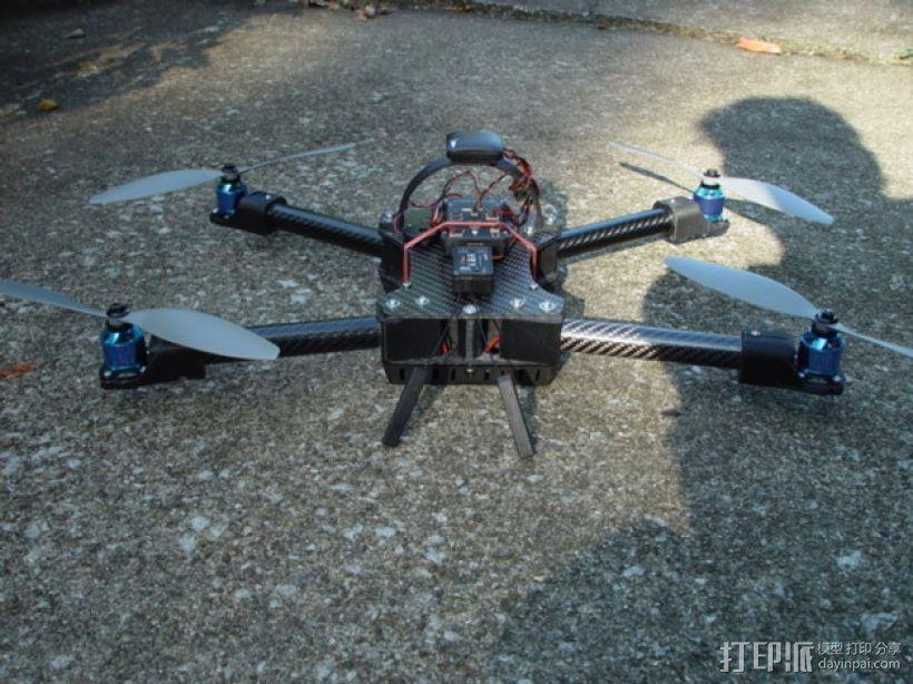 碳纤维 T4四轴飞行器 3D模型  图7