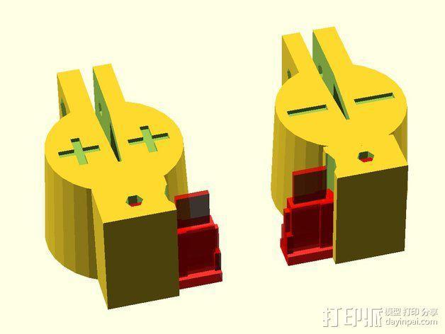 12V Lead 酸性电池绝缘端子 3D模型  图2