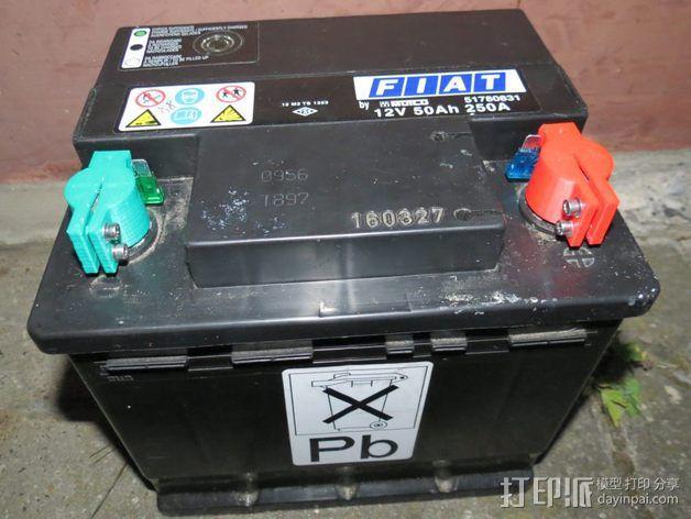 12V Lead 酸性电池绝缘端子 3D模型  图6