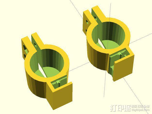 12V Lead 酸性电池绝缘端子 3D模型  图7