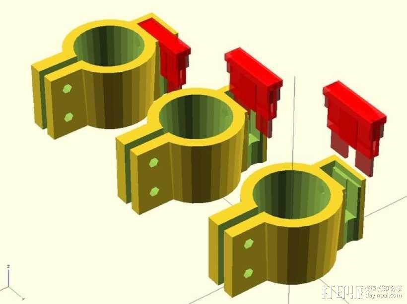12V Lead 酸性电池绝缘端子 3D模型  图9