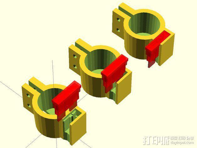 12V Lead 酸性电池绝缘端子 3D模型  图8