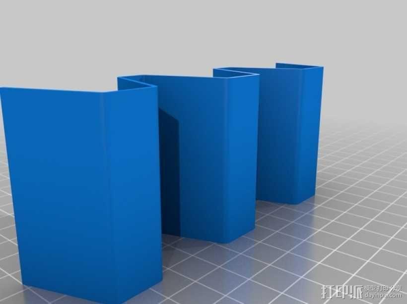 3色墨西哥隔物架 3D模型  图2