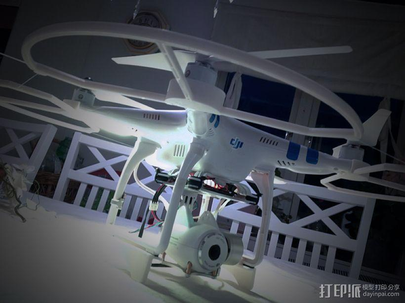 Dji Phantom Snap飞行器的螺旋桨保护架 3D模型  图1