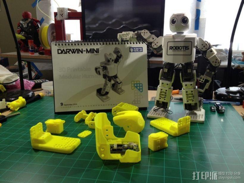 迷你DARWIN机器人 3D模型  图1
