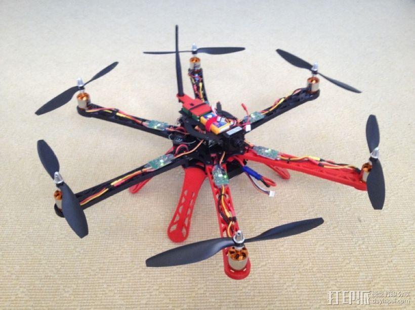 3D 打印四轴飞行器 3D模型  图1