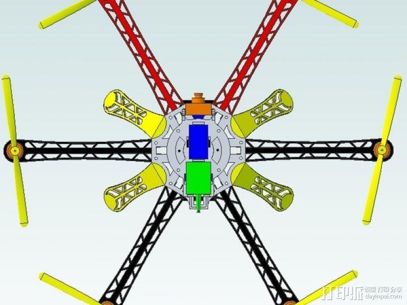 3D 打印四轴飞行器 3D模型  图4