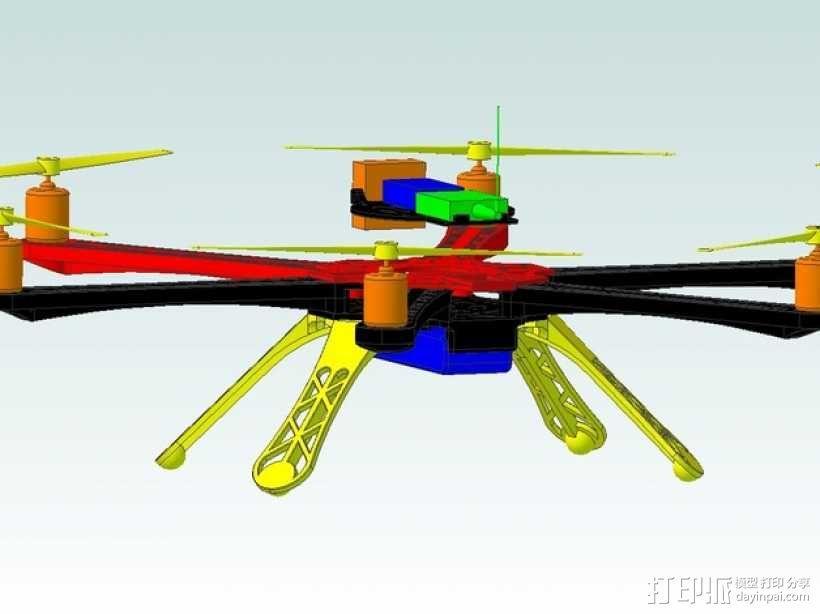 3D 打印四轴飞行器 3D模型  图5