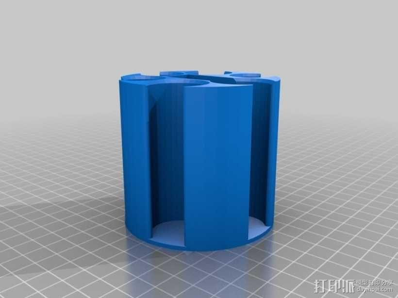 汽车专用硬币收纳杯 3D模型  图2