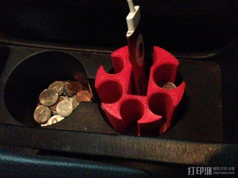 汽车专用硬币收纳杯 3D模型  图4