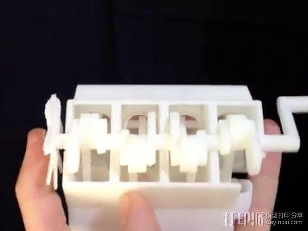 模型V8 马达 3D模型  图2