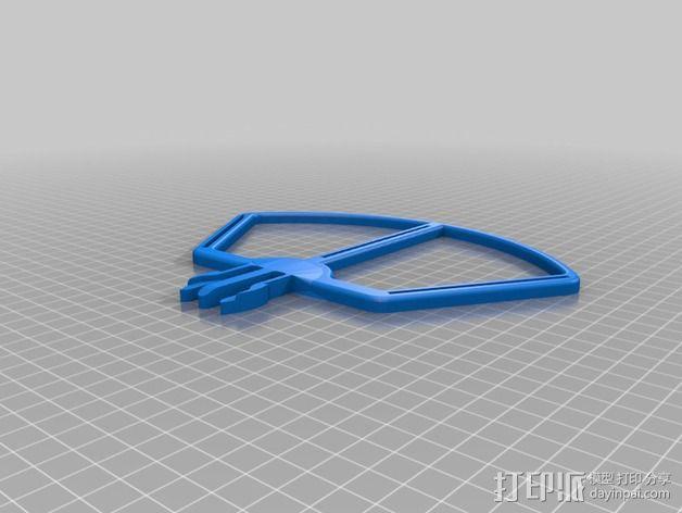 快速收放的站架 3D模型  图2