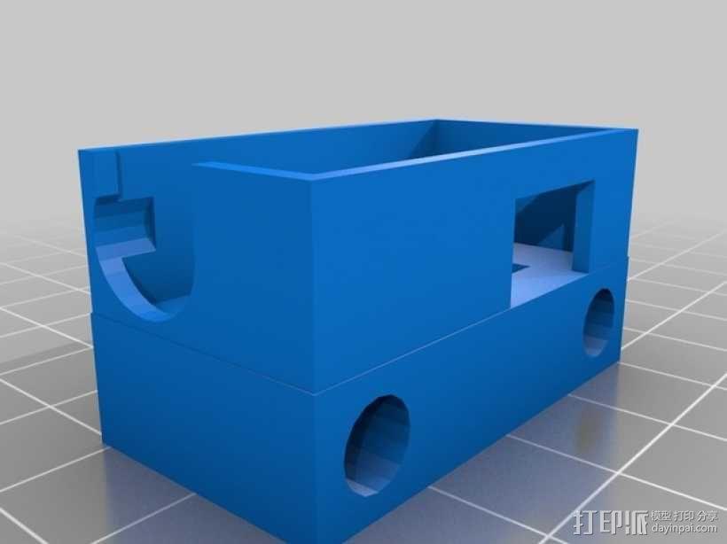 迷你H-Quad四轴飞行器 碳杆机身 3D模型  图3