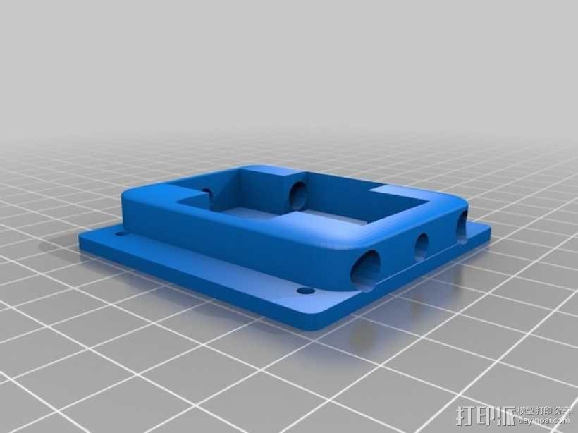 迷你H-Quad四轴飞行器 碳杆机身 3D模型  图4