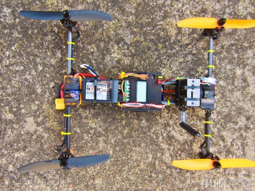 迷你H-Quad四轴飞行器 碳杆机身 3D模型  图9