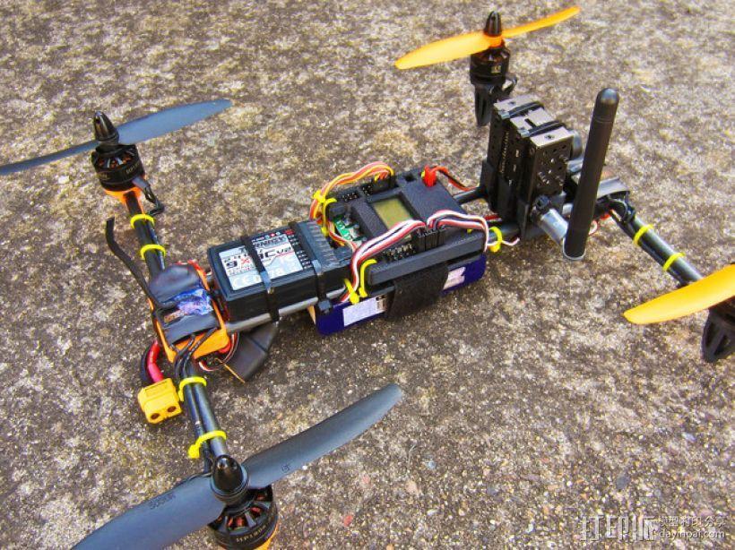 迷你H-Quad四轴飞行器 碳杆机身 3D模型  图8