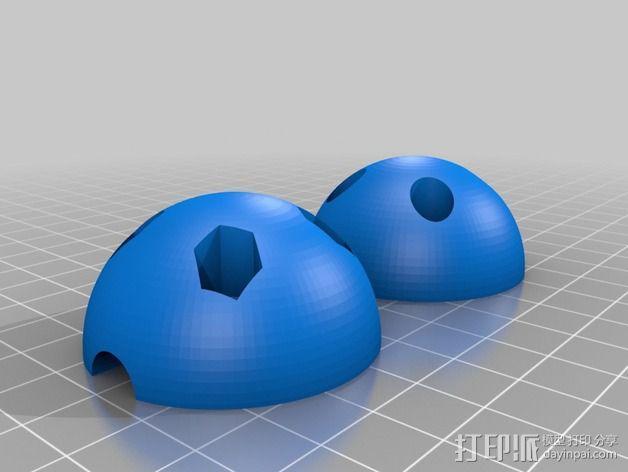 电缆球 3D模型  图1