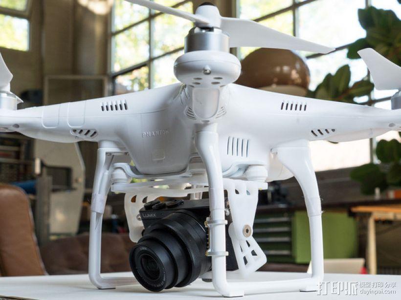 DJI Phantom 2的松下GM1照相机固定槽 3D模型  图1