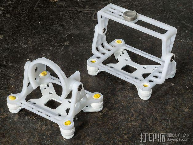 DJI Phantom 2的松下GM1照相机固定槽 3D模型  图2